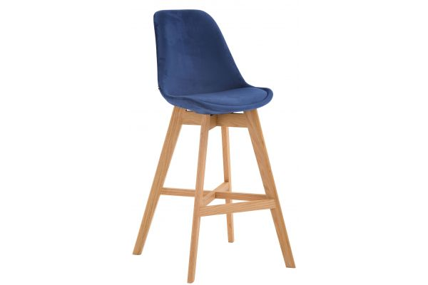 Tabouret de bar Cannes en velours