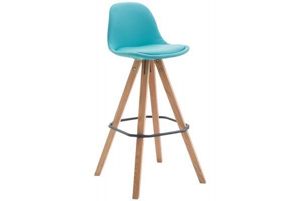 Tabouret de bar Franklin similicuir square nature