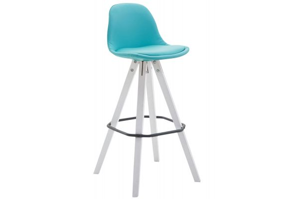 Tabouret de bar Franklin similicuir square blanc