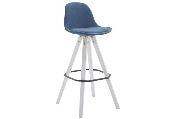 Tabouret de bar Franklin tissu square blanc