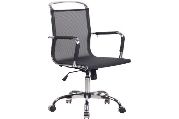 Chaise de bureau Barnet en tissu résille