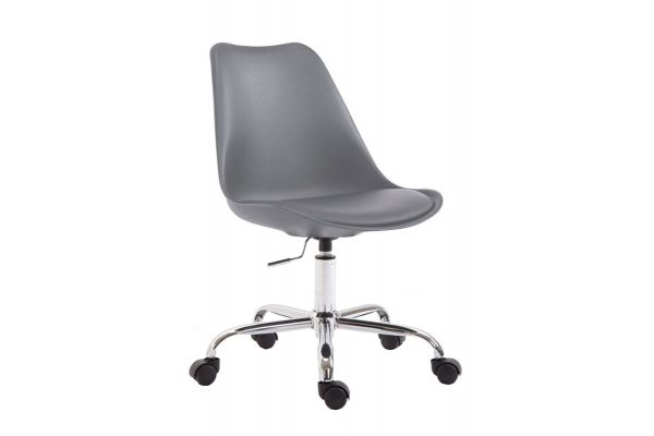 Chaise de bureau Toulouse à coque en plastique