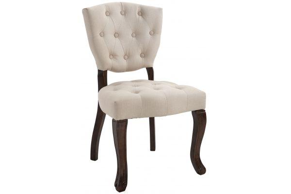 Chaise de salle à manger Elysa en Tissu avec Piètement en bois de caoutchouc