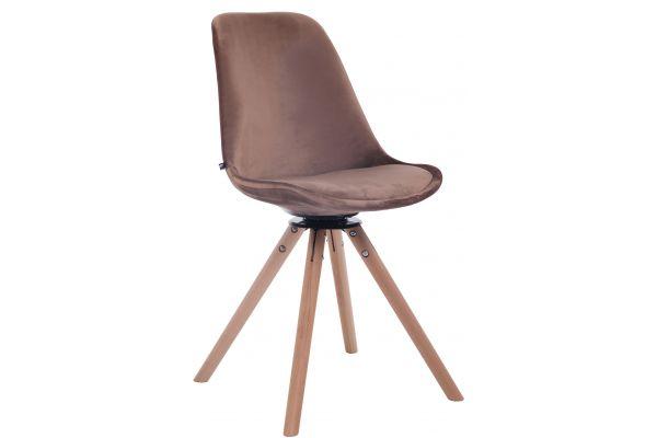 Chaise de salle à manger Troyes Pivotant en velours avec piétement rond