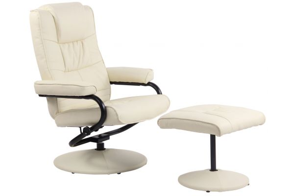Fauteuil inclinable Ennis Similicuir avec Repose-pieds