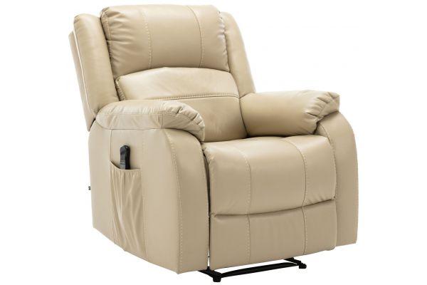 Sessel Kerpen mit Massagefunktion Kunstleder creme