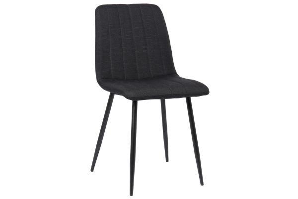 Stuhl Dijon Stoff schwarz