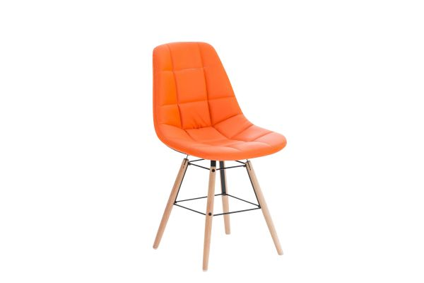 Stuhl Tammy Kunstleder orange