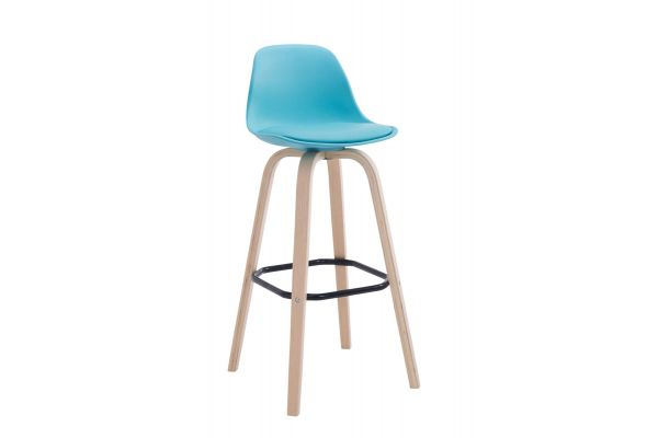 Tabouret de bar AVIKA support bois nature