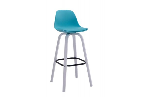 Tabouret de bar AVIKA support blanc