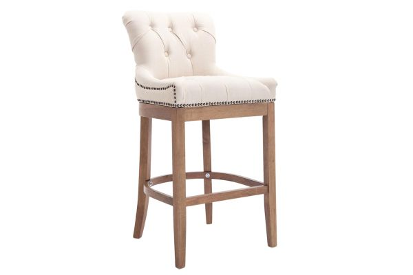 Tabouret de bar Buckingham tissu