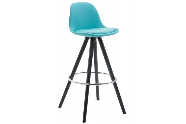 Tabouret de bar Franklin similicuir rond noir