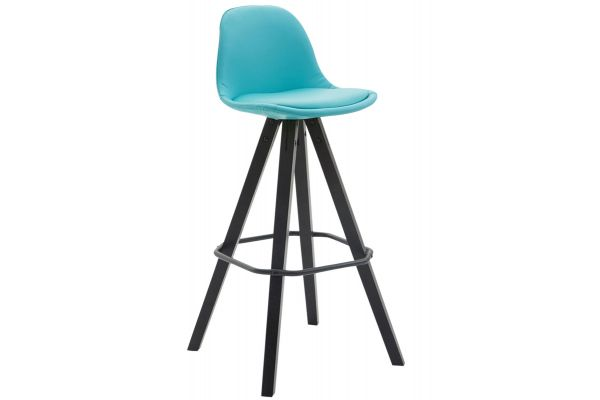 Tabouret de bar Franklin similicuir square noir
