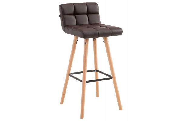 Tabouret de bar Lincoln V2 Simili cuir Nature