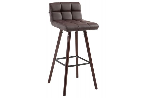 Tabouret de bar Lincoln V2 Simili cuir Noix