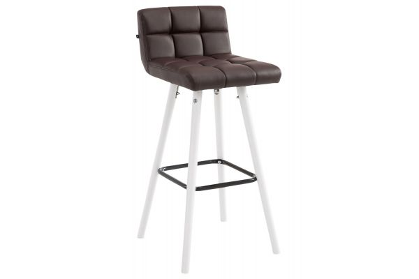 Tabouret de bar Lincoln V2 Simili cuir Blanc