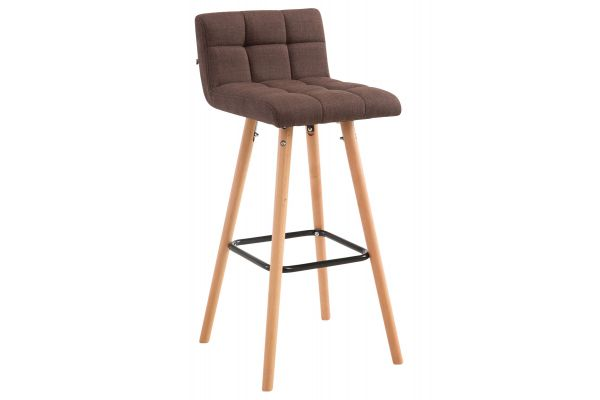 Tabouret de bar Lincoln V2 Tissu Nature