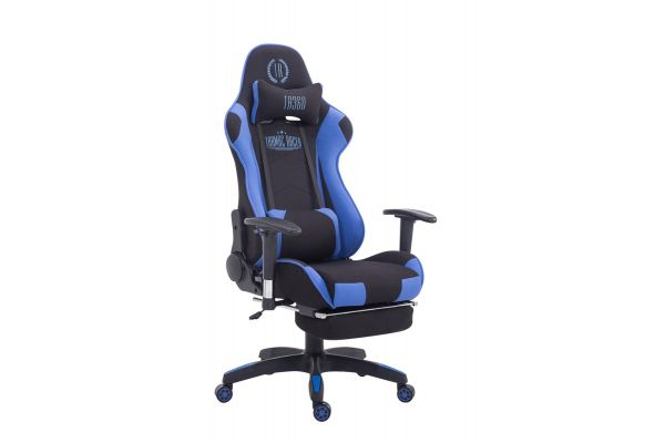 Gaming Stuhl XL Turbo Stoff mit Fußablage